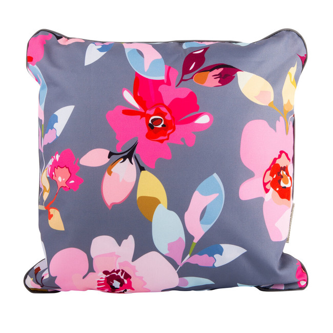 Gardenia  Double-sided Floral/Stripe Cushion for Picnics