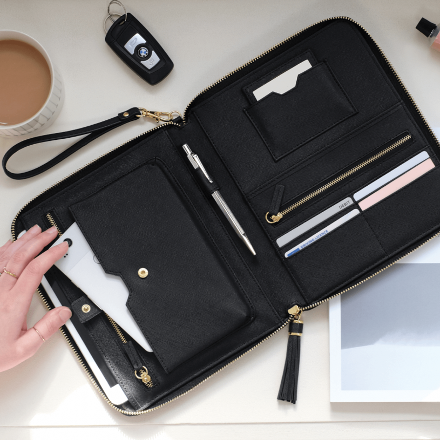Stackers Travel Clutch Bag with Compartments