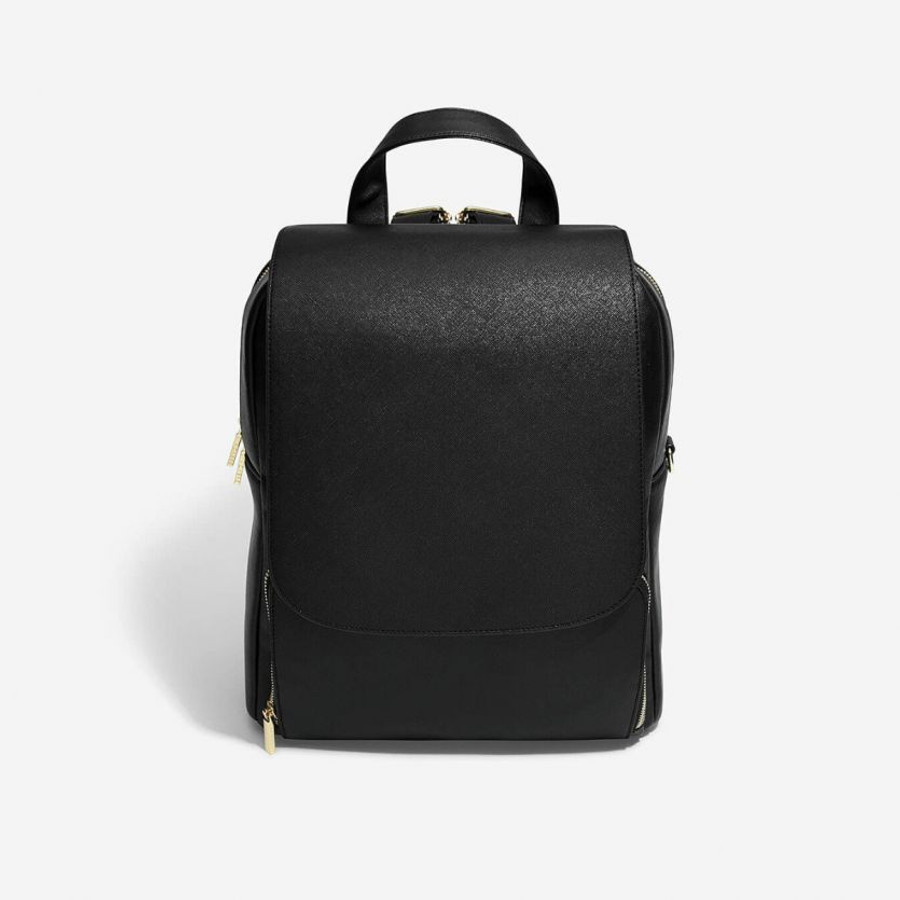 Stackers Faux Leather Backpack with Removable Purse