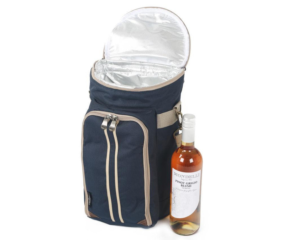 Greenfield Collection Super Deluxe Admiral Wine Cooler Bag, Blue - 2 people