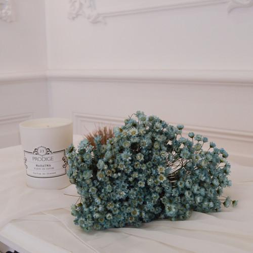 Botte de fleurs séchées glixia bleu