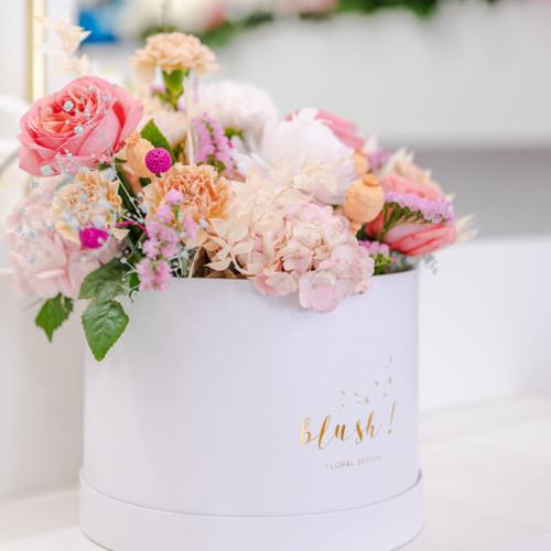 Floralbox XXL Swan aux couleurs douces parfaite pour la fête des mères