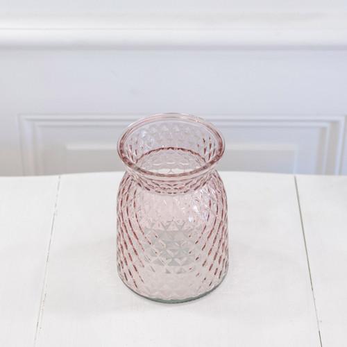 Vase ananas rose pâle