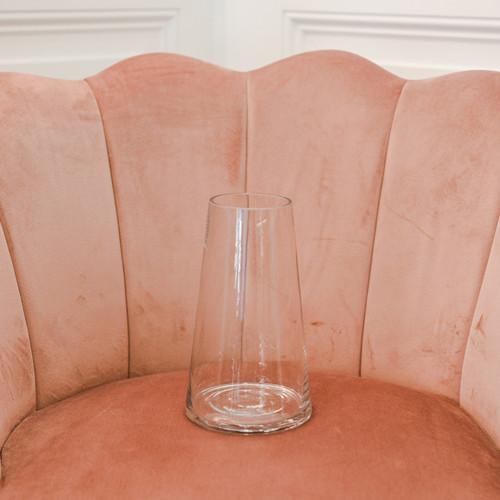 Vase transparent en verre