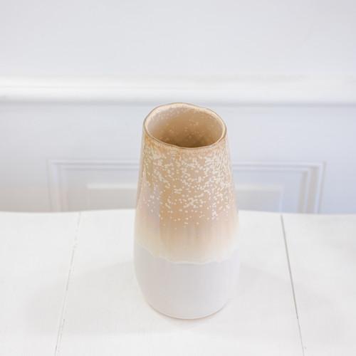 vase beige et blanc dégradé en céramique