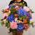 Bouquet de fleurs XXL avec hortensia bleus