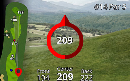 Garmin approach z80 rangefinder plays like distance