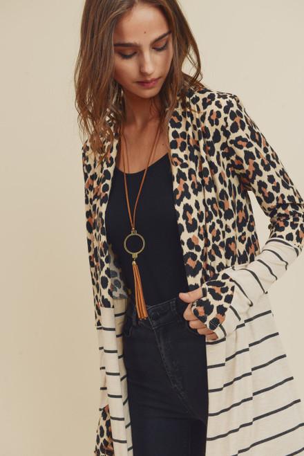 leopard print striped combo