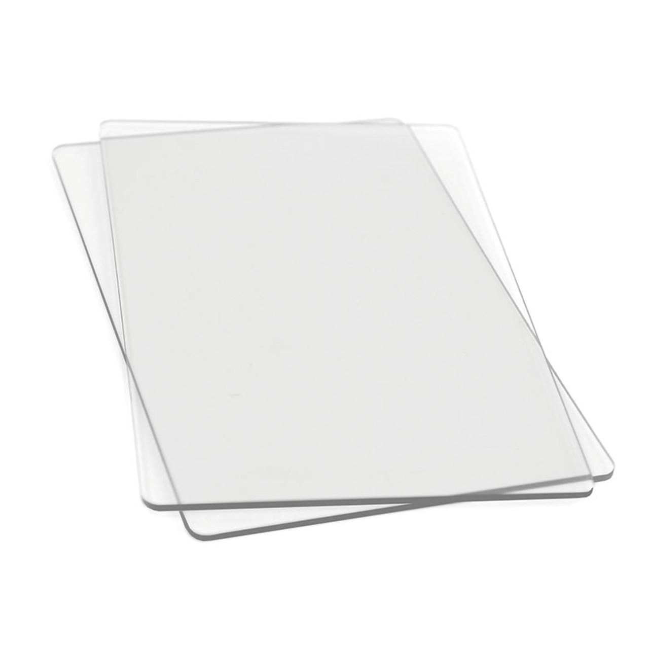 Sizzix Big Shot Cutting Pads 1 Pair-Purple W//Silver Glitter