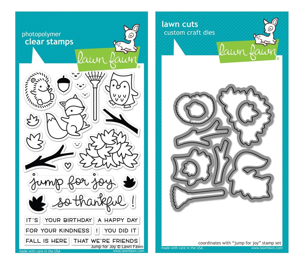 Lawn Fawn Stamps & Dies Bundle - Jump For Joy