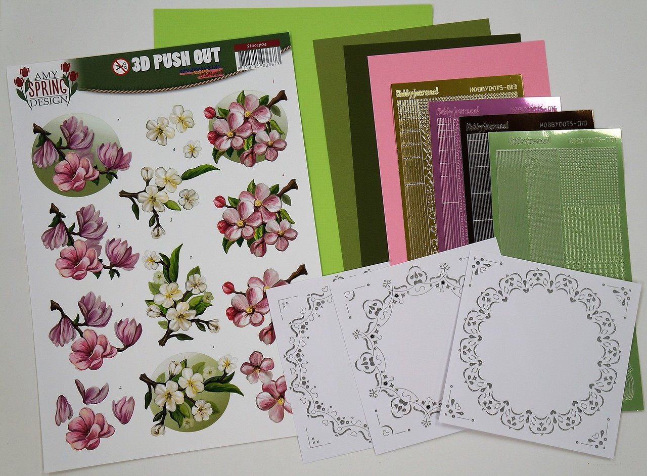 Couture Creations Hobbydots 3d Push Out Kit-amy Design Flowers