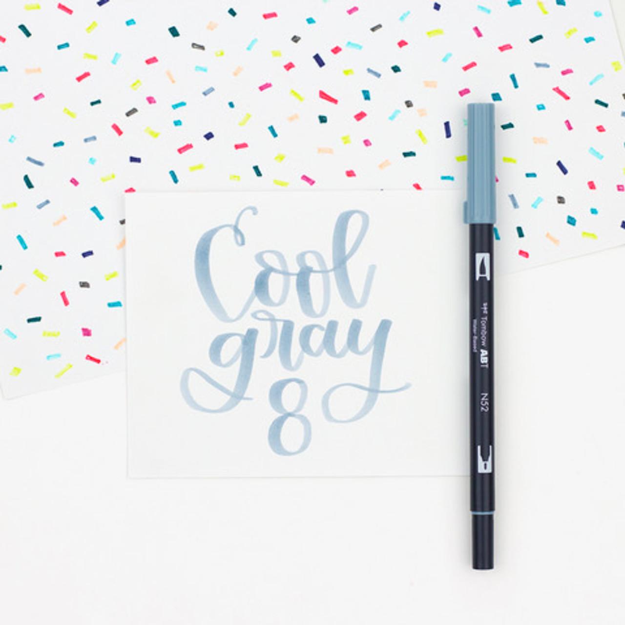 Tombow Dual Tip Blendable Brush Pen Cool Gray 10