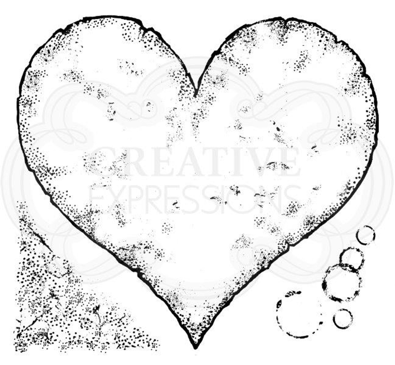 Clear Magic Stamp Set Woodware RIPPED LACE