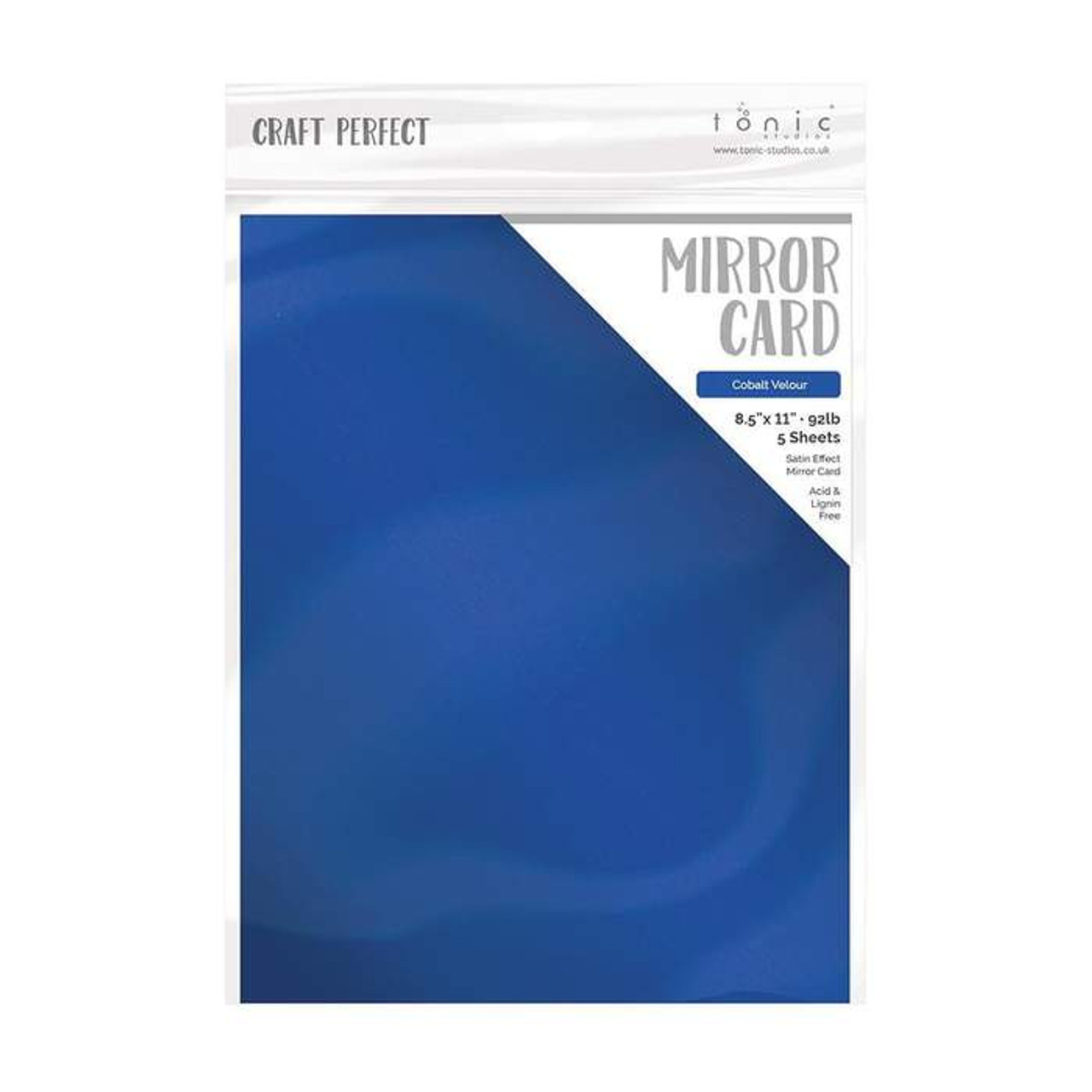 Black Velvet Craft Perfect Satin Mirror Card A4