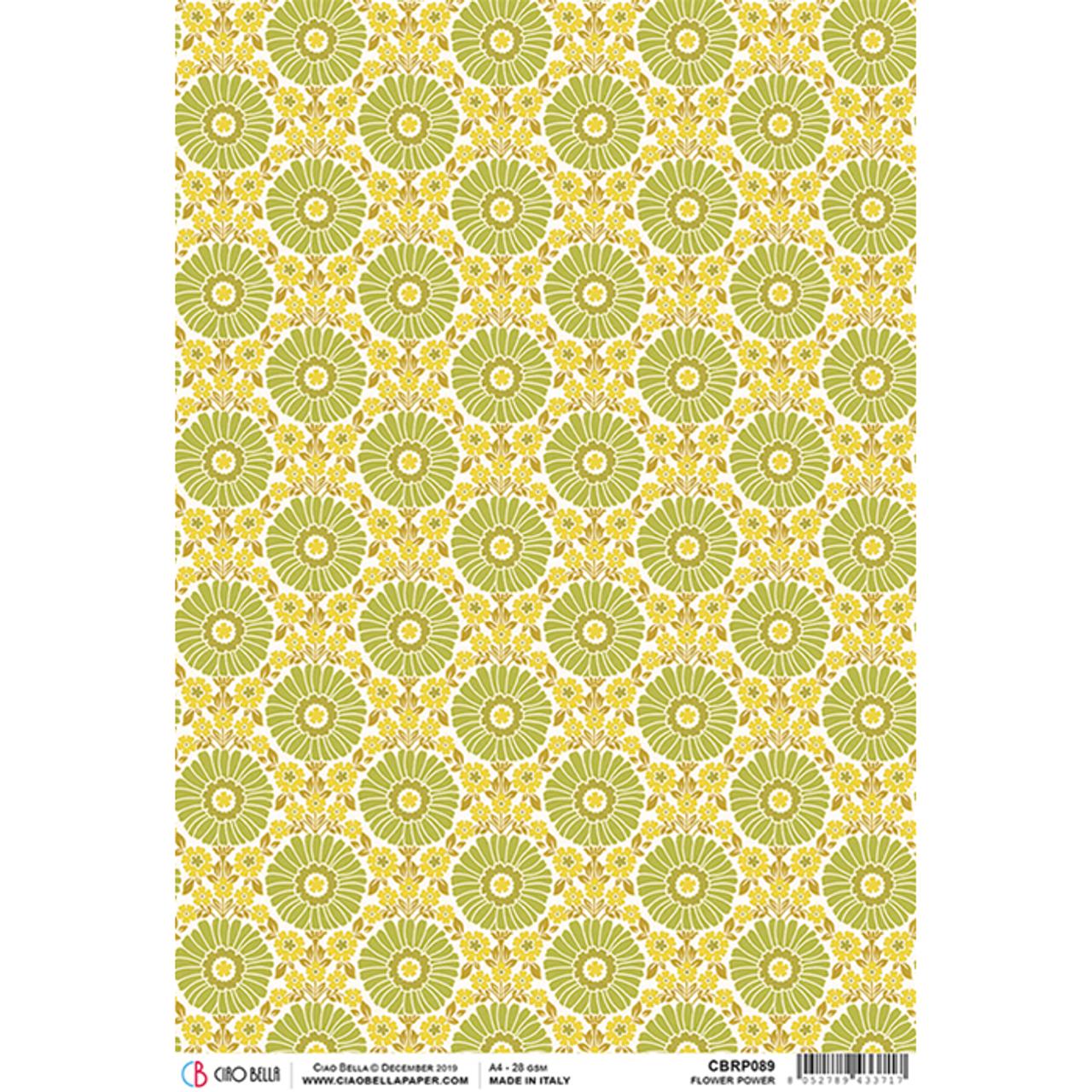 Rice Paper for Decoupage Scrapbook Craft Sheet Tango