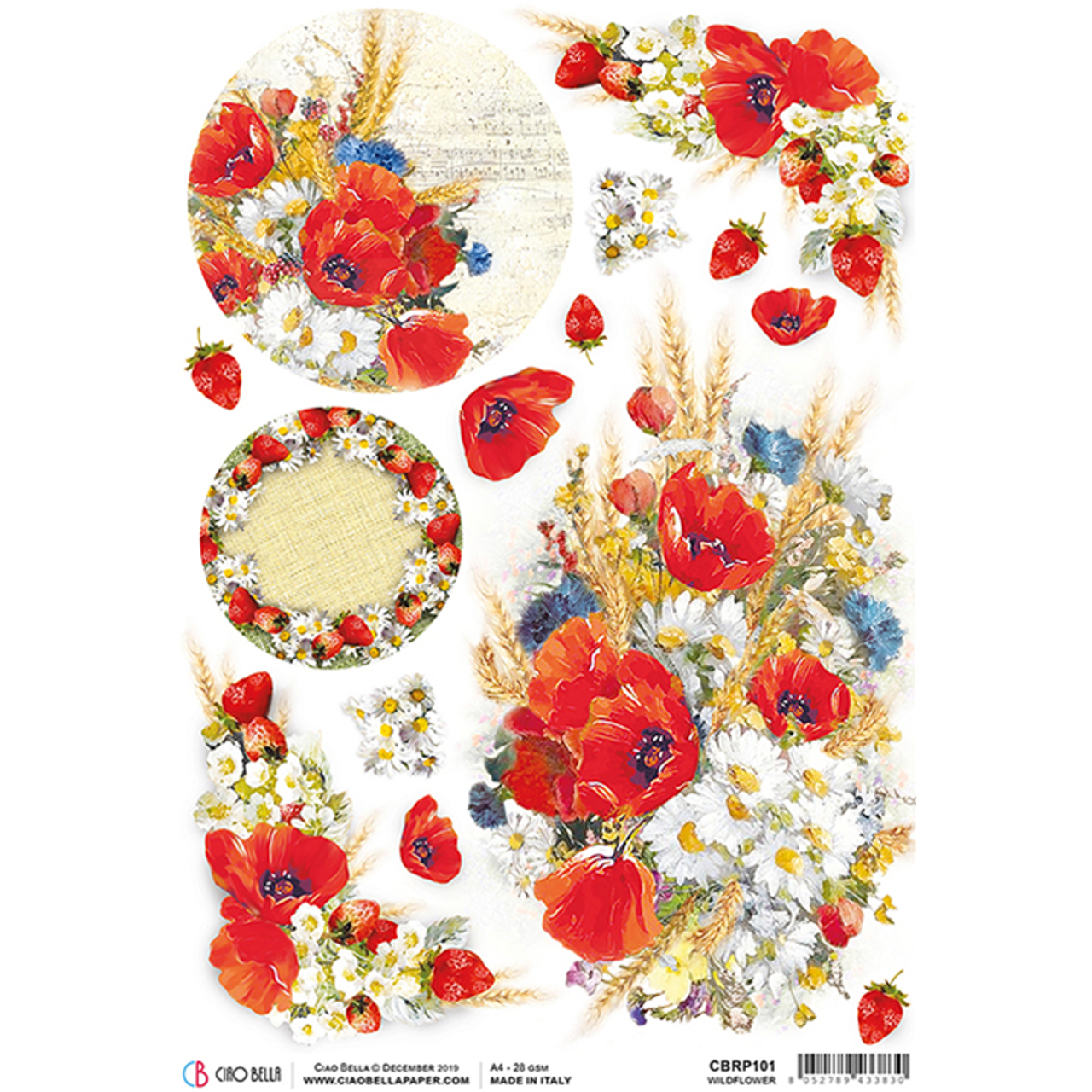 Rice Papers Decoupage Scrapbook and Craft Flowers 349