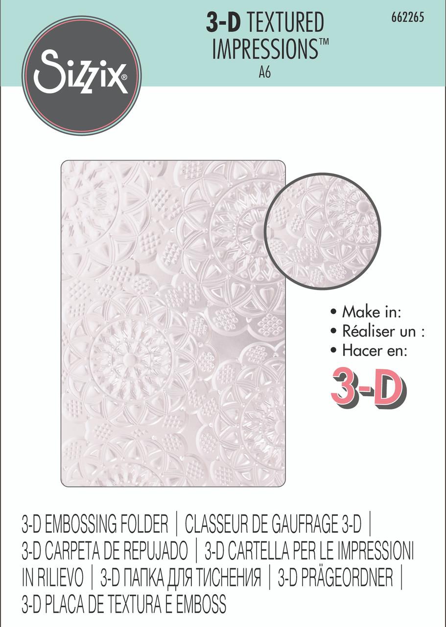 Hearts 3D embossing folder Confetti Tim Holtz Sizzix Folders 663201