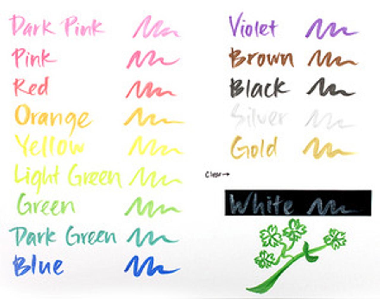 Zig Memory System Wink Of Stella Brush Tip Glitter Marker-Glitter White