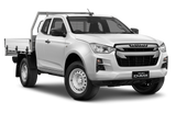 Isuzu D-Max Space Cab Chassis Splash White
