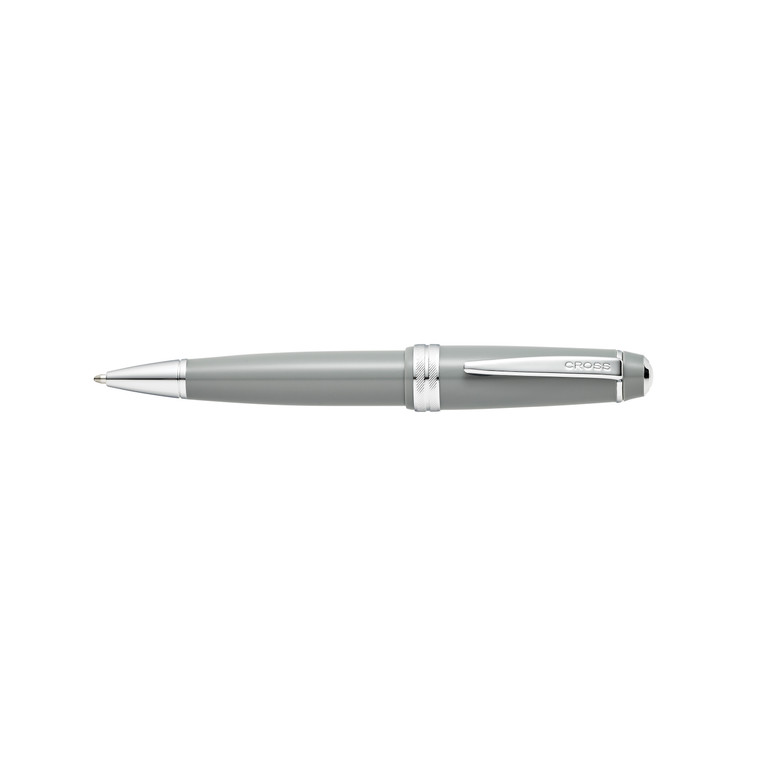 Bailey Light Polished Grey Resin Ballpoint Pen [SB]