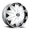 """DUB Spinners are available from 22"""" - 32"""" with custom finishing options. NEW DUB """"Stunnrz"""" Spinners come standard with our new 2-piece staggered directional base wheel, the Dazed. """"Stunnrz"""" are available in the following staggered sizes and specs: -24x9, 24x9, 26x9, 26x10, 28x9, and 28x10."""