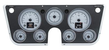 The high-water mark of classic trucks, 1967-72 GM pickups have been, and always will be, the favorite. The original seven-hole cluster offers plenty of room, so why not fill it with the best? Six analog gauges plus a clock and twin TFT message centers make use of the space, ensuring the driver is in the know. System fits stock or reproduction dash bezel, available separately.