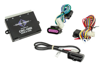 Direct plug-in cruise control for GM LS drive-by-wire engines, the CRC Series plugs directly into your OEM LS throttle pedal for not only simple installation, but reliable operation and connectivity. Self-learning calibration makes this system a snap to use, with no DIP switches or charts to follow! The CRC-1000 obtains its information from the included diagnostic connector and throttle pedal connections, allowing an extremely simple installation for drive-by-wire GM CAN bus applications. The CRC-1000 is ideal for applications using all matched OEM drivetrain control components.  Fits GM LS (V8) applications from 2006 - current (except Pontiac GTO & G8 applications).  GM bolt-on turn signal stalk is supplied (Handle 3). Inputs for power, ground, and a connection to your existing brake light switch are all that is required. Additionally, an output is provided for a cruise-on indicator.