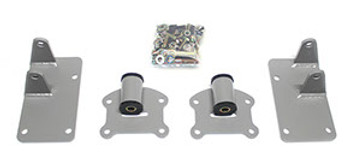 Hello LSX EVERYTHING Friends! Now you can comfortably swap your 88-98 OBS Chevy/GMC Truck with four wheel drive! This 4x4 mount kit locates the engine at the factory bell housing location so you can use your original transmission, transfer case and crossmember. If you are using a late model transmission you will have to relocate your crossmember and trim for fitment. This kit includes motor mounts, frame brackets, and hardware. Enjoy!