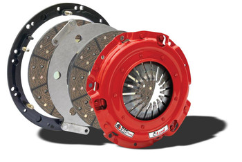Intended for high-horsepower street fans, the McLeod RST Street Twin clutch kits are economically priced twin disc clutches that use your existing flywheel. Able to handle up to 800 hp, the RST Street Twin clutches remain completely street-drivable. The organic lined clutch discs provide smooth engagement with a soft pedal effort, making these clutch kits ideal for the street performance enthusiast. (For select vehicles where these clutches are not adaptable to your existing flywheel, a new flywheel is included in the kit.)  * Alignment tool included * Lighter-than-stock pedal feel * Will bolt to factory flywheel * CNC-machined and anodized flywheel adapter ring * Organic disc facing for smooth and even clutch engagement with excellent release qualities  * Low rotating mass for quick revs * Blanchard ground floater with multiple straps to reduce noise for streetability