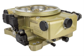 "Sold as a kit. FiTech Retro LS EFI 600 hp fuel injection systems offer a ""golden"" opportunity for impressive looks and performance. These classic gold engine-toppers with transmission control are complete throttle body kits, suitable for everything from your junkyard 5.3 to a Stroker 427—and they deliver old-school carburetor looks with EFI technology and reliability. Whether a do-it-yourself hot rodder or professional EFI tuner, the features of the FiTech Retro LS EFI 600 hp system are sure to inspire you.  FitTech Retro LS complete self-tuning induction kits include:  * Classic gold die-cast throttle body  * Hand-held controller * Windshield mount  * Wideband oxygen sensor * Coolant temperature sensor * Self-learning ECU  Features and benefits:  * Wet flow technology and swirl spray annular discharge for complete atomization * Windshield-mount for control * Flow-matched 80 lb. injectors * Self-learning ECU with touchscreen controller for easy setup and configuration * Semi-sequential fuel and full spark control * Bosch wideband controlled (self-learning)  * 24X and 58X crank and cam compatible * 1 BAR MAP sensor—TPS-IAC sensor * Speedometer Output Driver for most speedometers * On-the-fly programmable target air/fuel ratios and timing * Custom camshaft-friendly * Knock sensor control * Available transmission control feature is suitable for 4L60, 4L65, or 4L80 GM transmissions * Compatible with E-85 gasoline * All Go-EFI's feature voltage control fuel pump control. This feature reduces the voltage to the pump under low-load conditions such as idle and cruise, thus reducing noise and heat. This will extend the life of your pump and keep the fuel in the tank cooler and your ears from ringing."