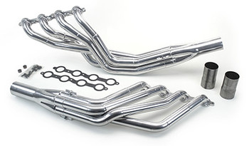 Long tube ceramic coated headers, good for 600+ HP. Radiator & Cooling Fans. The complete package that you need to finish that build immediately. Headers come complete with gaskets, o2 bungs, and collectors as pictured. Radiator has fans, aluminum finish and is definitely a sight for sore eyes. Make your engine bay with this combo!
