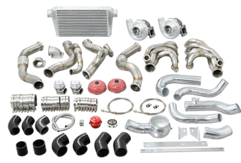 "If symmetry is what you are after in your hot rod and classic build, we understand exactly what you mean!  Click --> Single Turbo systems are great for getting the power down, especially the one that we have available exclusively for the 67-91 Chevy/GMC Truck! But sometimes just having one is not enough!   We get it, and that is why we have created the ULTIMATE TURBO KIT for the Chevy/GMC Truck enthusiast! This covers Chevy/GMC trucks & SUVs from 64-91.  This twin turbo kit includes the following:  1-7/8"" 304 Stainless twin turbo headers with V-Band Clamps T4 Turbo Elbows with Wastegate Provisions 44mm V-Band Wastegates 3"" Downpipes Oil Line Kit & Fittings Air Filters 72mm .68 A/R Q-Trim Ball Bearing Turbos - perfect for 6.0L LS Motors! Good for 600HP-700HP each 