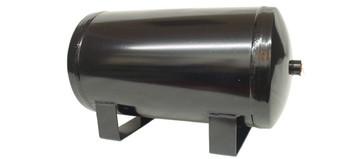 "3 Gallon Black Air Tank  3 -1/2"" ports  DOT Approved"