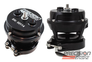 PTE Blow-Off Valve. Precision Turbo and Engine PTE blow-off valves are good for your turbo. They offer several styles to meet your performance needs. All are meticulously crafted from billet aluminum and finished with a durable black anodize for high-quality looks and performance.