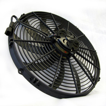 Fan, Spal, Electric, Dual, 12.00 in. Diameter, 3,168 cfm, 12 V, Puller, Black Plastic Shroud, Each