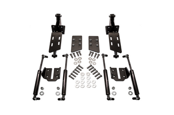 "Fits: GM C-10 Truck & Suburban 1967, 1968, 1969, 1970, 1971, 1972  Includes: Cowl Mounted Hood Hinge Kit (pair), Weld On Hood Mounting Brackets (pair), Gas Assist Struts (4), Mounting Hardware  When Removing The Factory Hood Hinges For Tire/Wheel Clearance You Will Need To Relocate Them. Switch Suspensions Cowl Mounted Heavy Duty Hood Hinges Will Support Your 67-72 C-10 Hood With 3/8"" Thick Hinge Arms Pivoting On Oil Impregnated Bushings & High Strength Shoulder Bolts For Accurate & Smooth Operation. Weld On Hood Mounting Plates Come With Pressed In Lock Nuts For Hassle Free Hood Installation. Black Zinc Coated, Precision CNC Cut & Tig Welded HRPO Steel. Made In The USA."