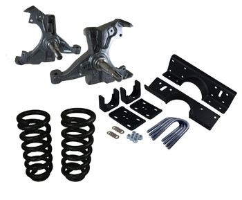 Premium Ride Kit includes Spindle Aggressive Drop Applications Maintains OEM Geometry Best way to lower your vehicle Excellent Value For all Engine Sizes  Available for Chevy C30 Suburban / Blazer Years: 1973 1974 1975 1976 1977 1978 1979 1980 1981 1982 1983 1984 1985 1986 1987 1988 1989 1990 1991