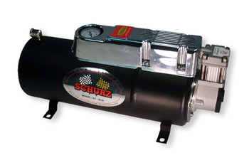 COMPRESSOR & TANK COMBO FOR TRAIN HORN. INCLUDES BUILT-IN PRESSURE SWITCH AND AIR GAUGE