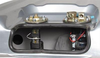 Fuel Tank, Sniper EFI, 24 Gallons Capacity, Steel, Silver Powdercoated, Baffled Sump, Chevy, Kit