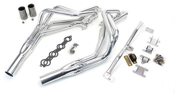 This swap kit is for 1995-2005 S-10 2 wheel drive Blazers. It was designed around our GM LH8 oil pan. Unlike most LS swap parts on the market this kit replaces the frame brackets in addition to the mounts so you'll have clean mounting of your engine and not a mix of parts that are weak and don't work together properly. The frame brackets bolts into existing holes in the frame and and locates the engine to give you the most options for front accessories drives. Unlike others, our kit positions the engine so there is no steering interference and maintains the proper drive-line angle for smooth highway cruising. It provides clearance for the factory AC box, power brake booster, and aftermarket suspension components.  We offer a complete line of Muscle Rods headers that give unparalleled performance and ground clearance with sizes that are matched to your engine combo. These combined parts offer an easy, strong, and clean installation of your LS engine. Click for more info
