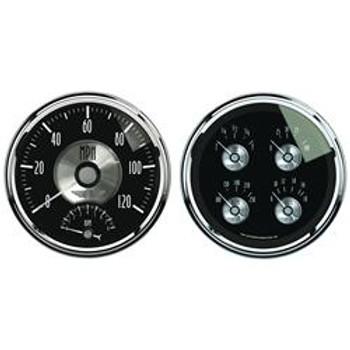Gauges, Prestige, Fuel Level, Oil Pressure, Speedometer, Tachometer, Water Temperature, Voltmeter, Kit