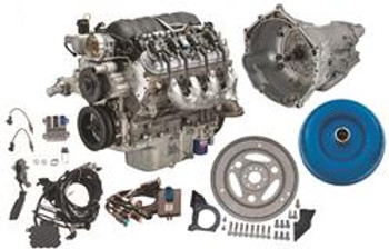 Engine and Transmission Combo, Connect and Cruise LS 376/480 HP, 6.2L, Long Block, 4L70E, Chevy, Small Block LS, Kit