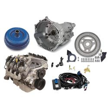 Engine and Transmission Combo, Connect and Cruise LS 376/515 HP, 6.2L, Long Block, 4L70E, Chevy, Small Block LS, Kit