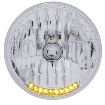 Headlight Conversion, 7 in. Crystal, Amber Auxiliary Lights, H6017, H6024, Each