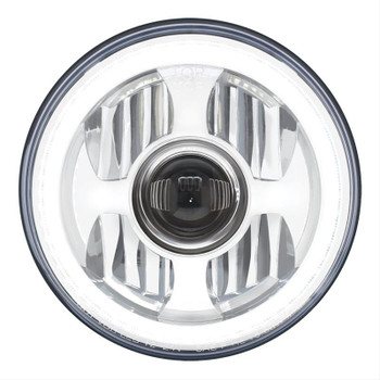 Headlight, Sealed Beam, Projection Style, 7.0 in. Diameter with LED Dual Function Halo Ring