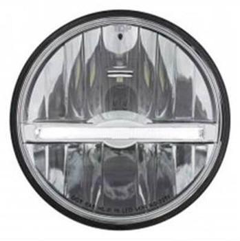 LED Headlight with White LED Position Light Bar