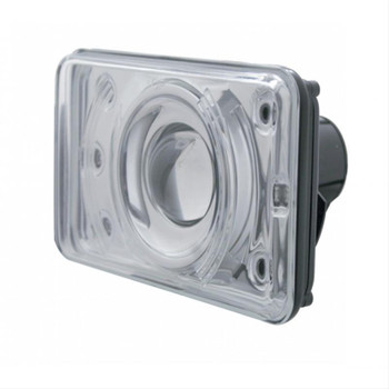 Headlight, Sealed Beam, Projection Style, 6 White LED, 9005 Bulb, Low Beam, 6 in. x 4 in., Plug Adaptors. Each