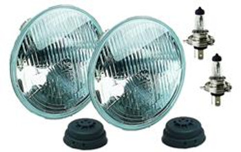 Headlamp Assembly; ECE Off-Road; Conversion Headlamp; 7 in. Dia. Round; H4 High/Low, Kit