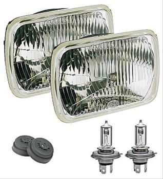 Headlight Assembly, ECE, Glass, Rectangular, 12 V, Kit