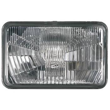 Headlight Assemblies, Vision Plus, Headlamp Conversion, Clear, Chrome, 4 x 6 1/2 in. Headlamp, Each